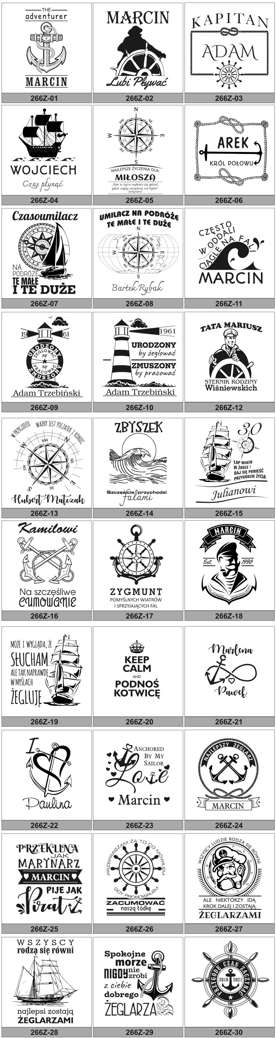 rysunki na kufle dla żeglarza